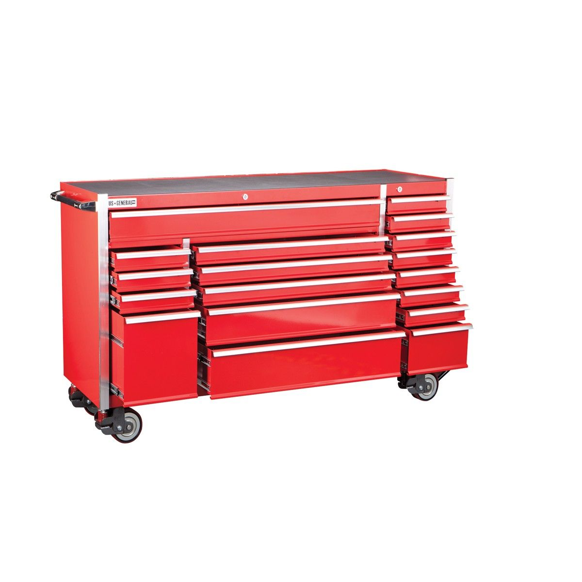 Elegant 18 In Glossy Red End Cabinet for Roller tool Chest