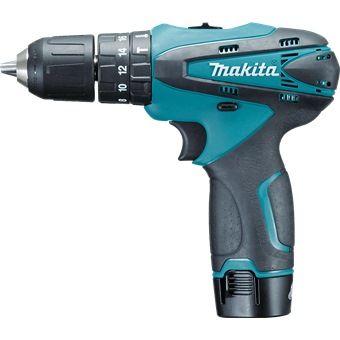 Makita 10 8v 2x1 3ah Li Ion 10mm Hammer Driver Drill Hp330dwe Drill Cordless Drill Reviews Makita