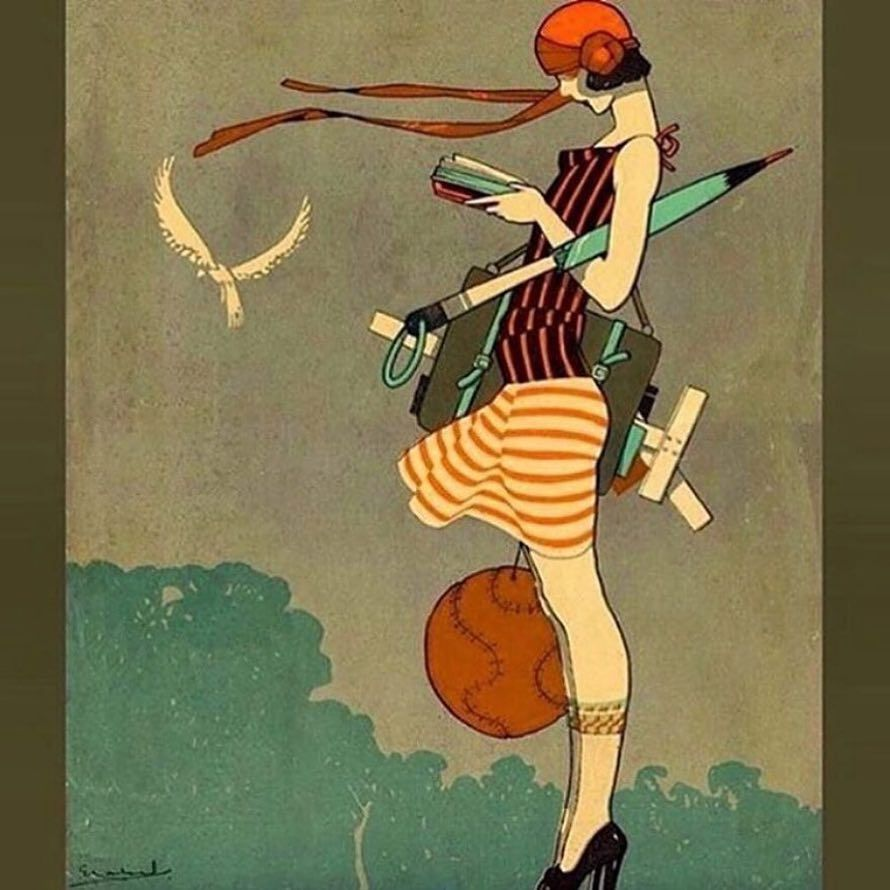 Vintage Illustration Gallery On Instagram Lizziemontgomerydesign Ernesto Garcia Cabral Dia De Art Deco Paintings Vintage Illustration Art Deco Fashion