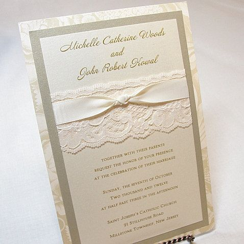 Invites. Looks vintage and has lace..I'm in