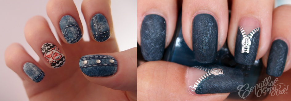 Flash Your Unique and Trendy Nails with these Top 5 Latest Nail Art Trends  - Denim - Flash Your Unique And Trendy Nails With These Top 5 Latest Nail Art