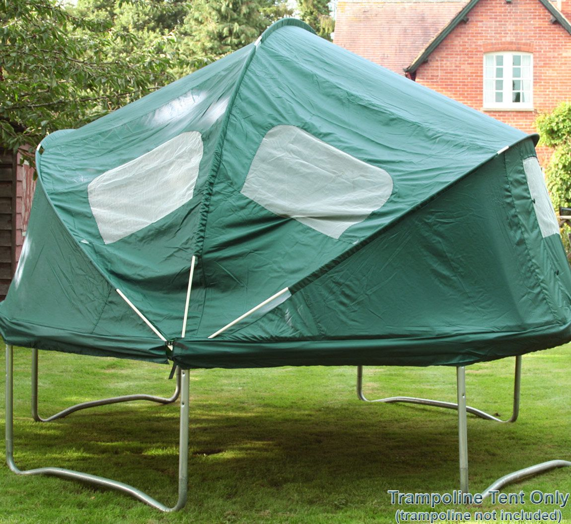 The Trampoline Tents Provide A Fun Den For Your Complete With Windows And Doors Fly Screens Just Like Real Tent
