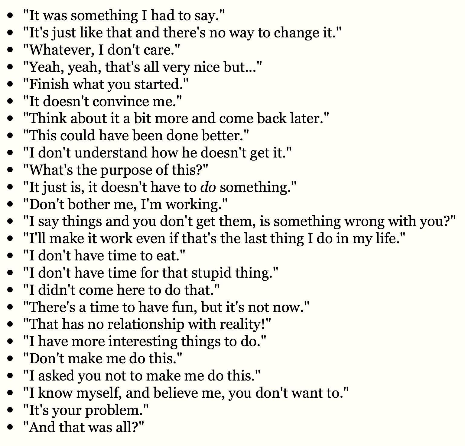 INTJ - typical phrases you would hear an INTJ say    | INTJ