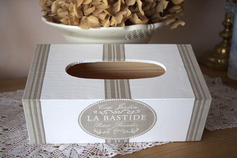 Boite Mouchoirs Romantique En Bois La Bastide Campagnard