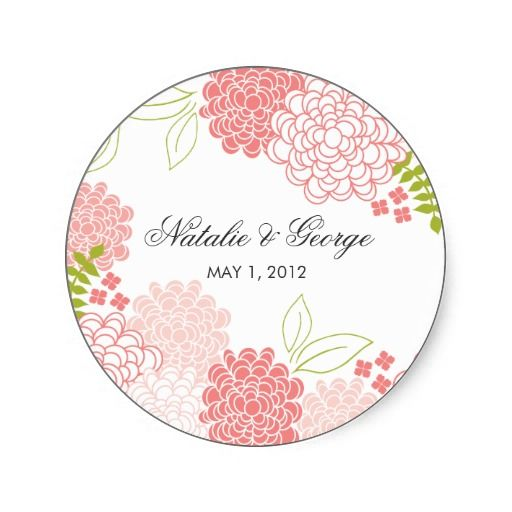 Spring Blossoms Wedding Favor Sticker Spring Blossom Favors And