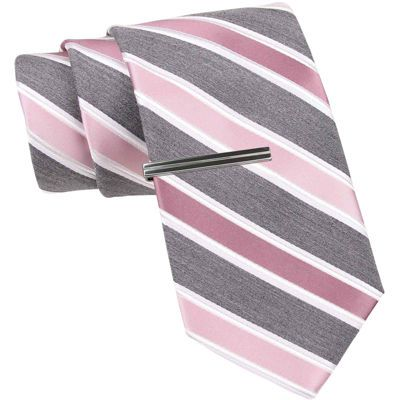 JF J. Ferrar® Heathered Stripe Slim Tie - JCPenney