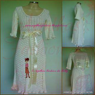 Agulhas Fashion da Patty: Vestido Duquesa
