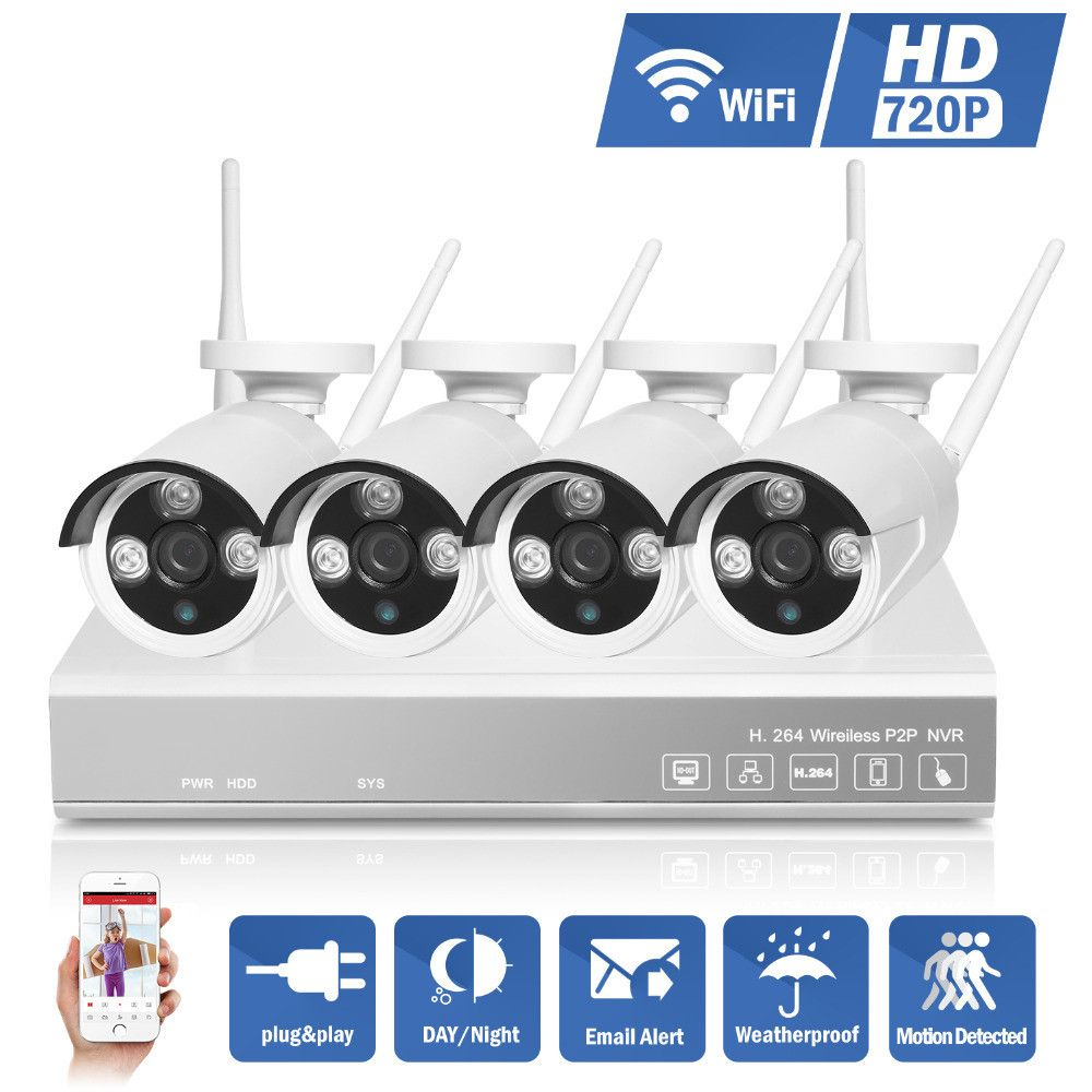 ANNKE 720P HD Outdoor IR Night Vision Home Surveillance Security IP