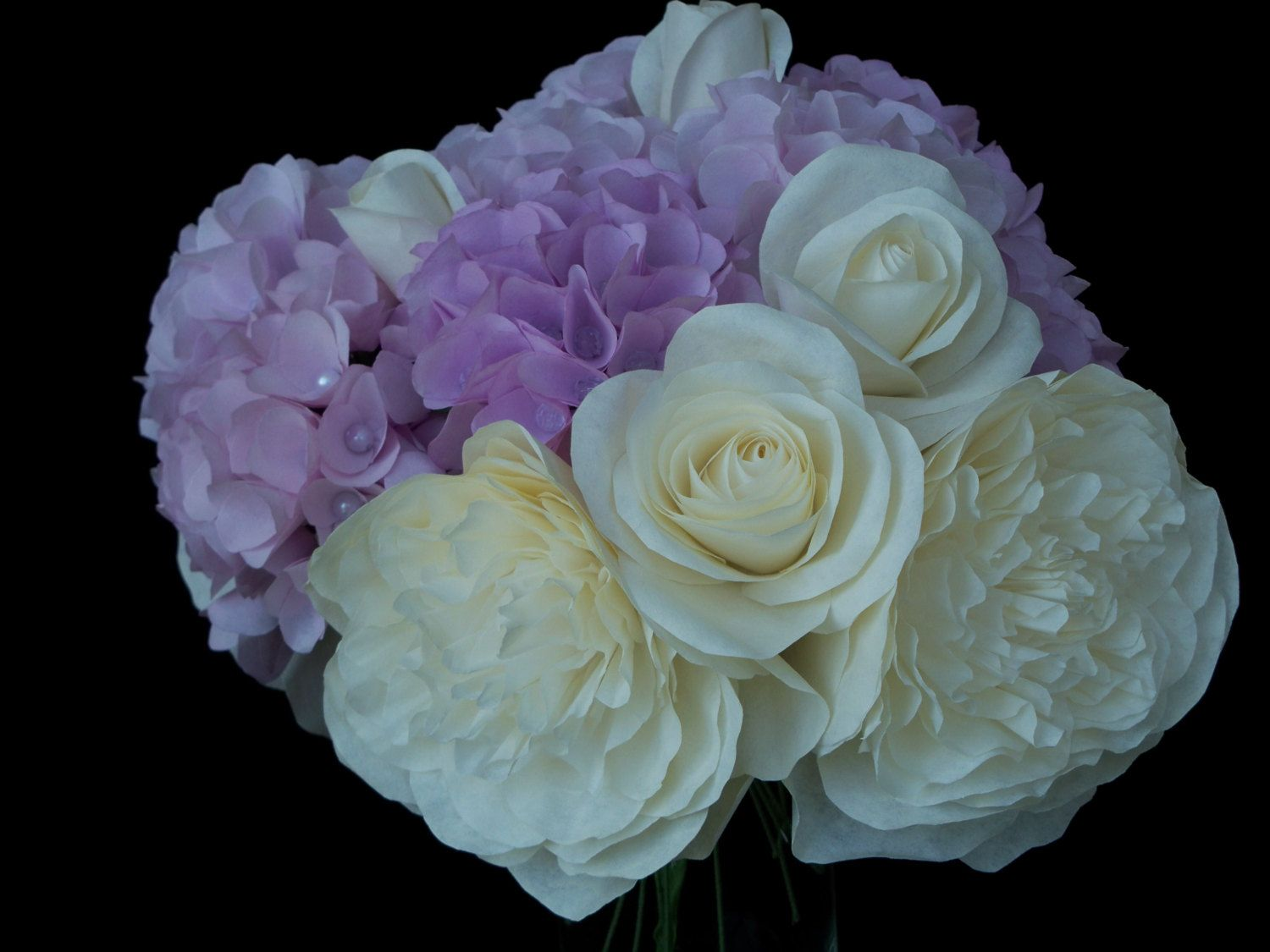 Paper Flower Bouquet Wedding Anniversary by RoyasCreations on Etsy