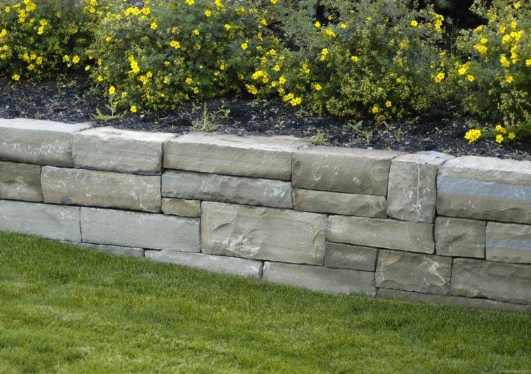 Muros De Piedra Seca Sin Cemento 24 Ideas Para Jardines Page Muros De Contencion De Jardineria Muros De Piedra Muros De Contencion De Concreto
