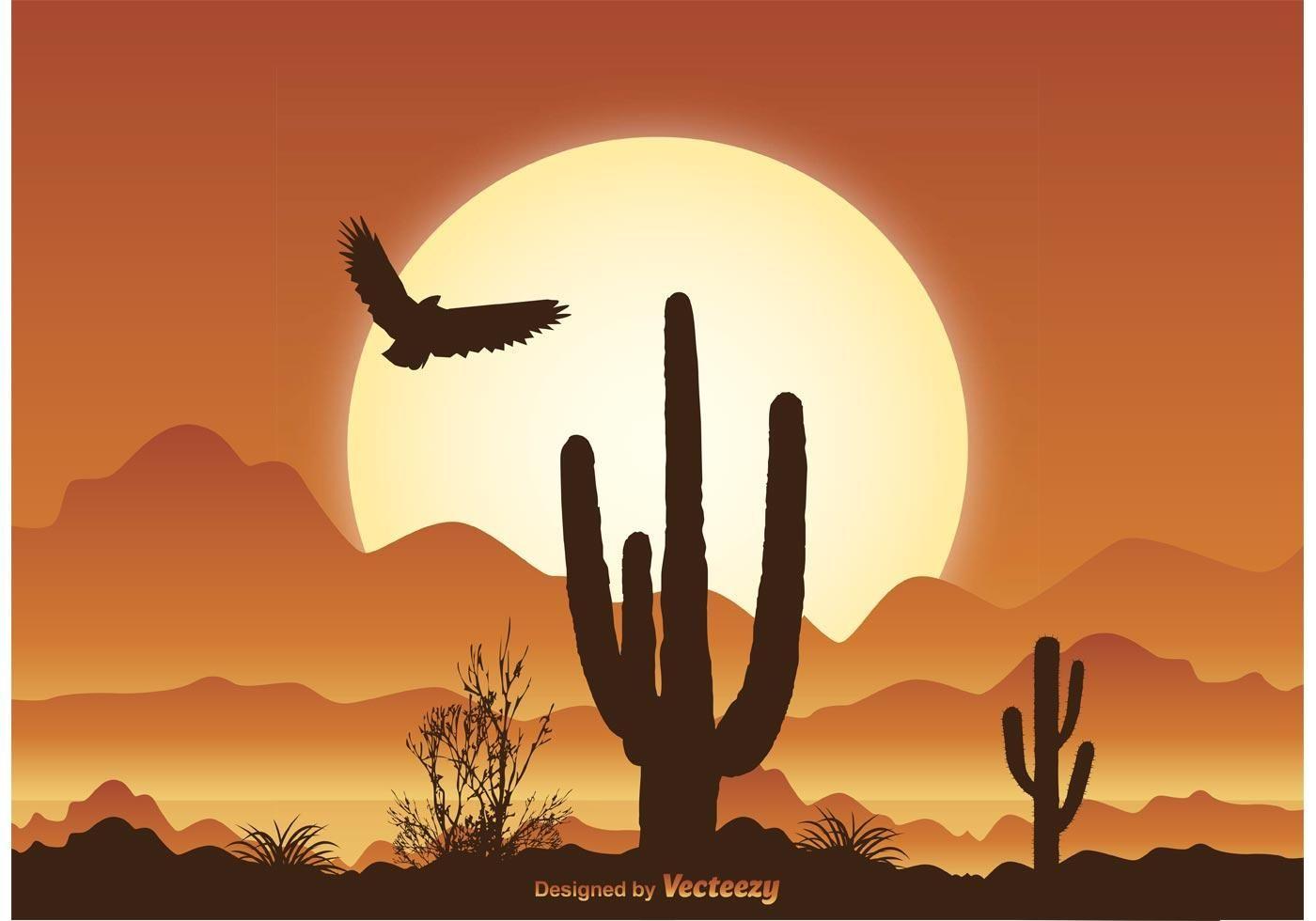 Photo of Desert Scene Illustration