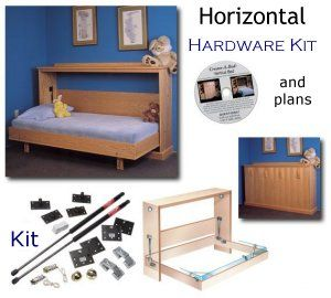 Murphy bed plans and kit - I wanna put one of these in every room! We can have guests galore!