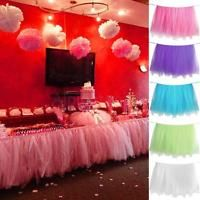 Details About Princess TUTU Tulle Table Skirts For Wedding Party Birthday Baby Shower