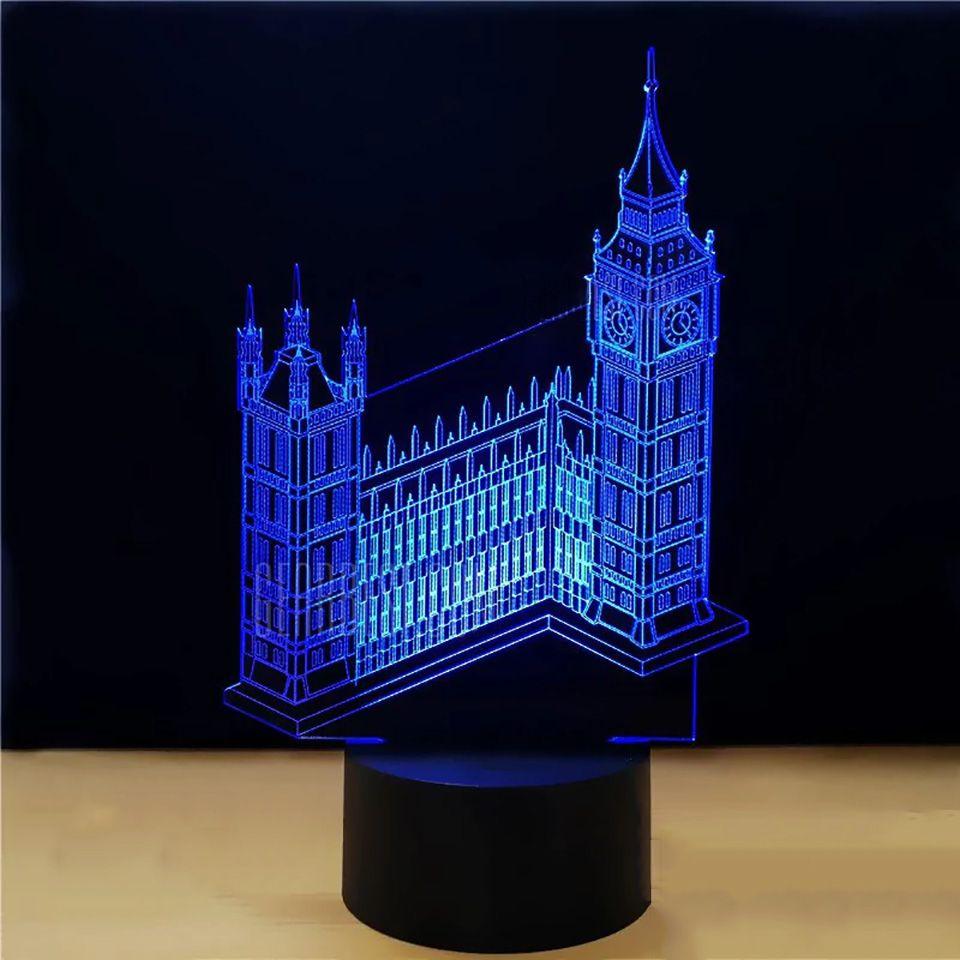 Big Ben Tower Building 3d Visual Led Nightlight Lamp Night Light Lamp 3d Led Night Light Night Light
