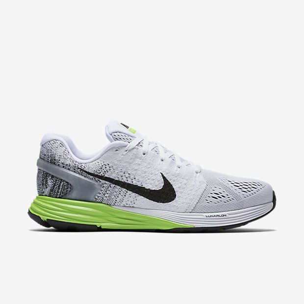 a1fd791fd33c Nike Lunarglide 7 Mens Running Shoes 15 White Black Electric Green 747355  103  Nike  RunningCrossTraining