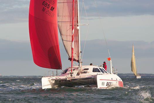 The Schionning Waterline 11 6 catamaran 'Backlash II