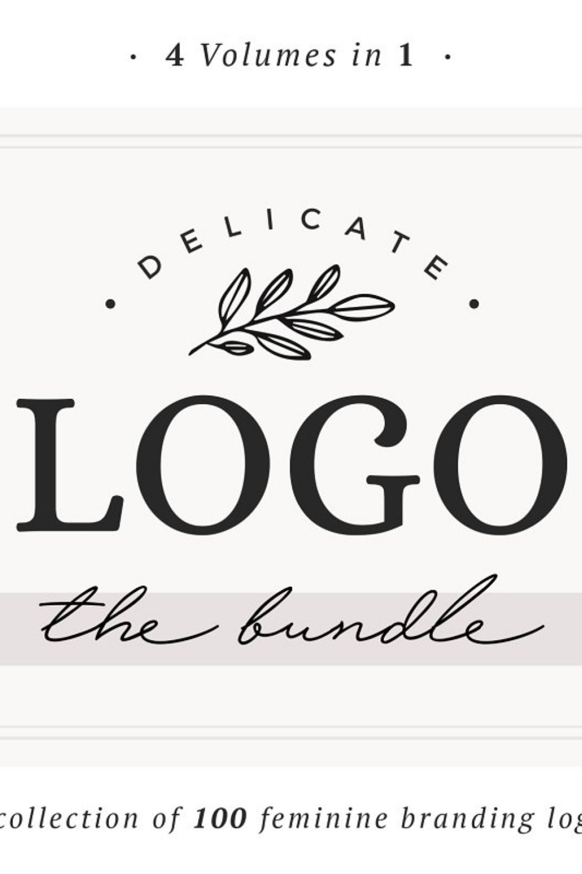 So happy to introduce you to my new Logo Bundle!!! This