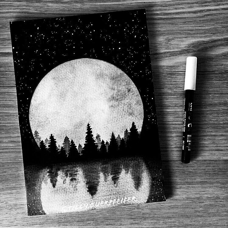 Old But Gold Illustrationoftheday Bulletjournal Drawingoftheday Watercolorpainting G Canvas Painting Projects Painting Art Projects Moon Painting