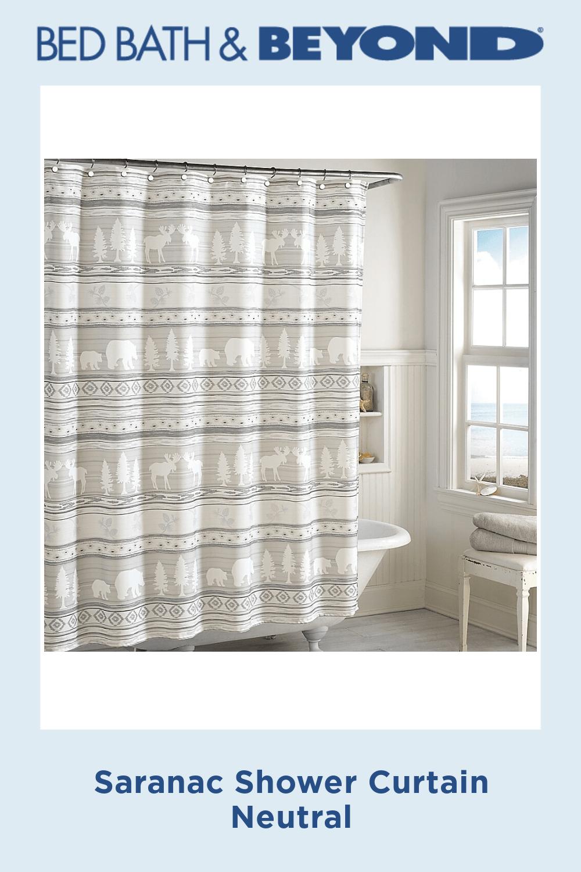 Saranac Shower Curtain Neutral