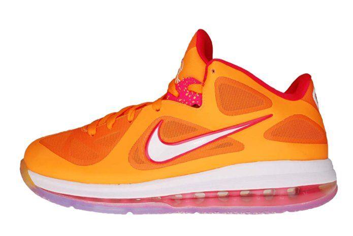 Nike LEBRON 9 Low Miami Floridians Vivid Orange Cherry Easter Night 510811- 800\u2026