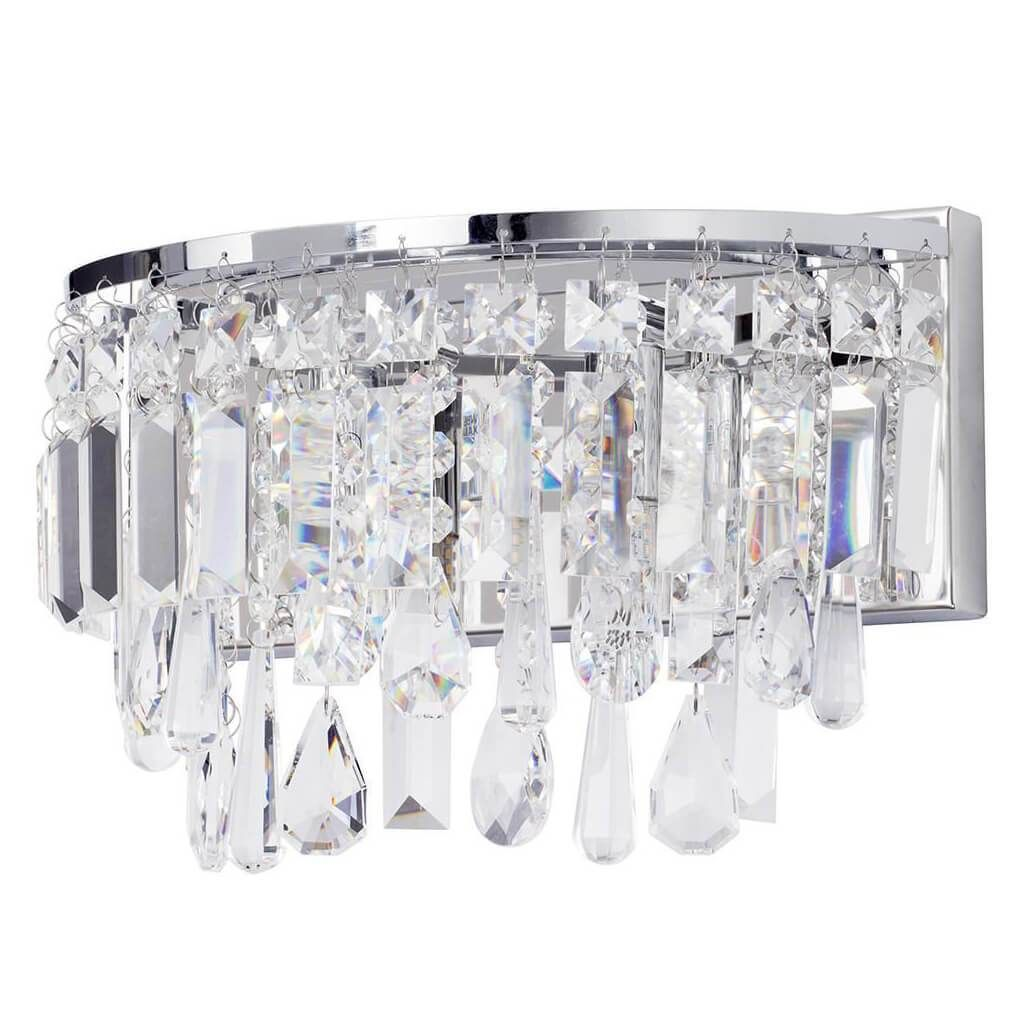 BRESNA flush fit chrome and crystal 3 light bathroom chandelier