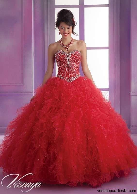 Vestidos de xv años color rojo moda 2014 \u2013 06 , https//vestidoparafiesta