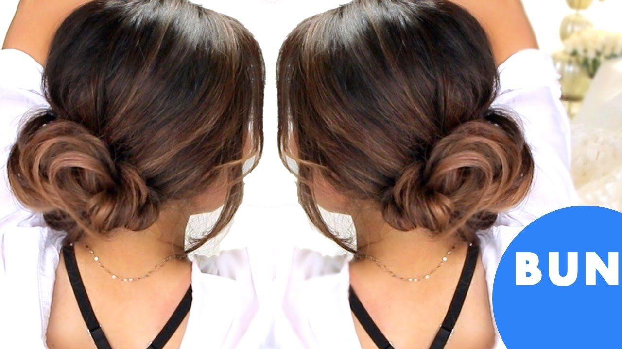 3 Minute Elegant Bun Easy Updo Hairstyles Womens World