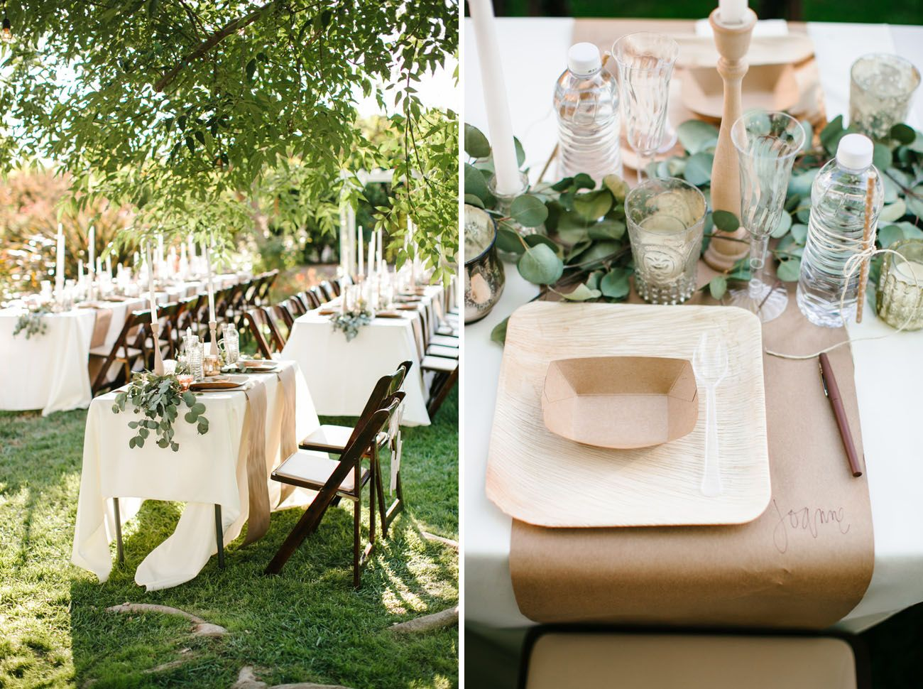 Disposable tableware. Maybe the boat for salad and apps and plate for dinner. & Romantic Relaxed Backyard Wedding: Heidi + Joshua | Pinterest ...