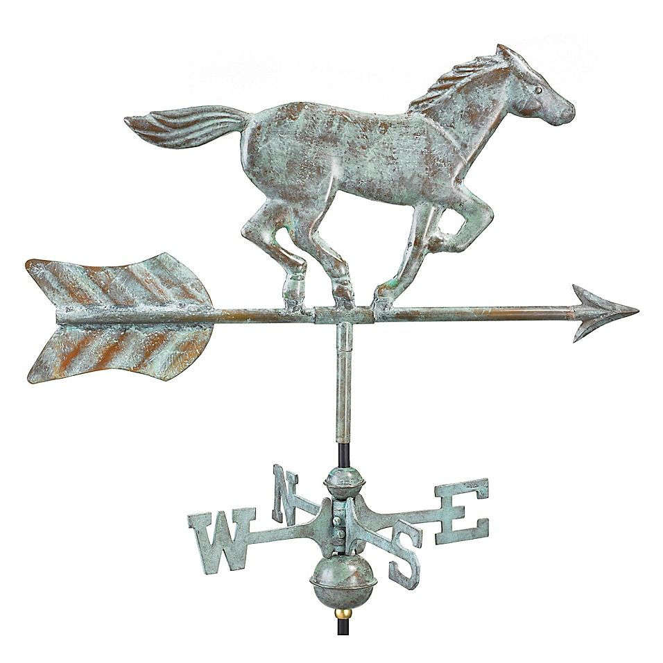 Good Directions Horse Garden Weathervane With Garden Pole Weathervanes Good Directions Garden Poles