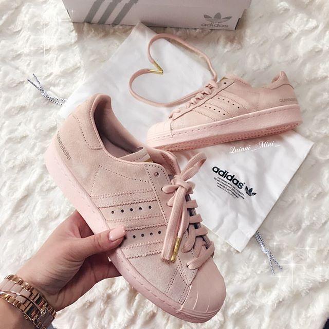 best website 26cf6 f3258 adidas Superstar Blush Pink Suede! crepsource.co.uk  Sneakers
