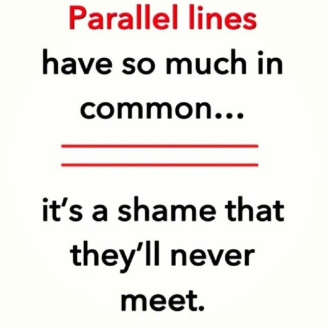 parallel lines meet in space