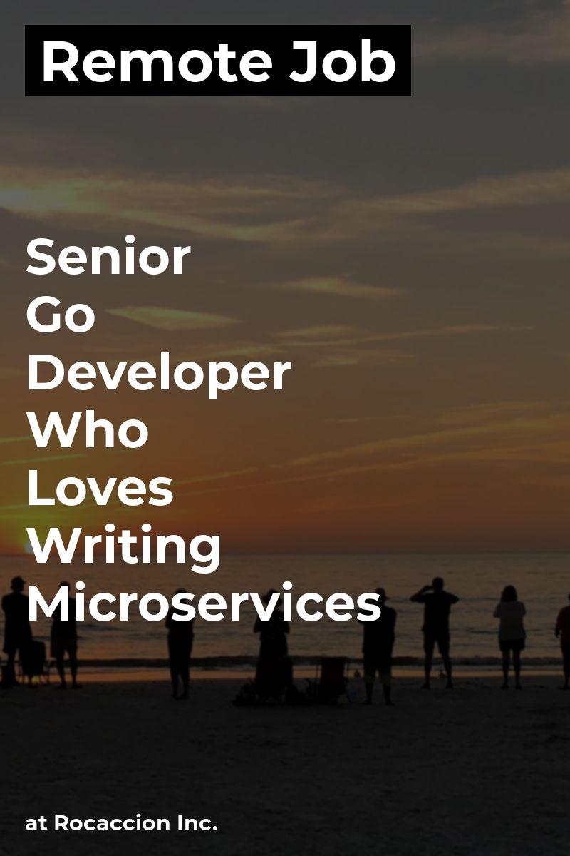 Remote Senior Go Developer Who Loves Writing Microservices