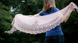Seaward #laceeaterdesigns #laceknitting #crescentshawl
