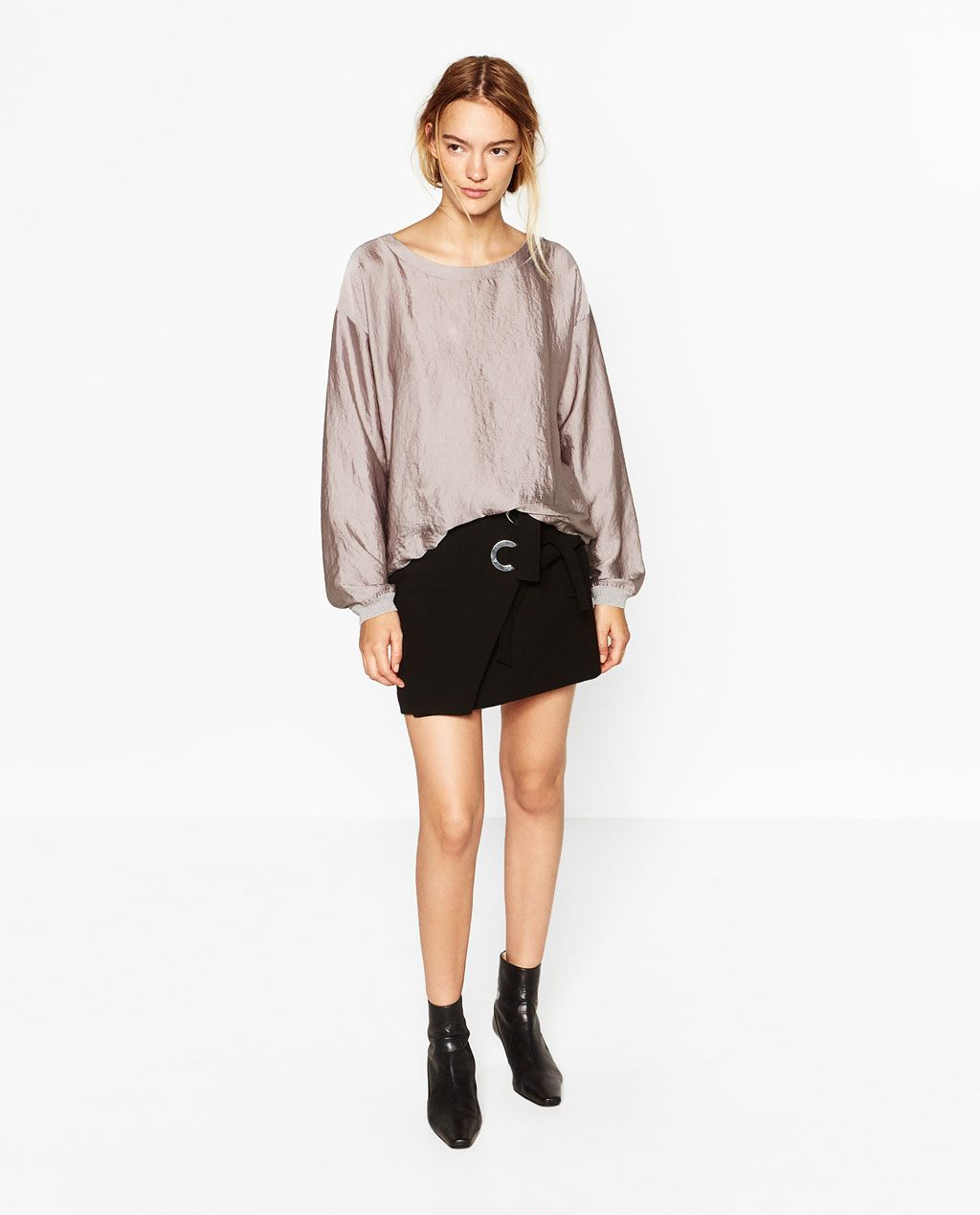 SATEEN BLOUSE-Blouses-TOPS-WOMAN | ZARA United States