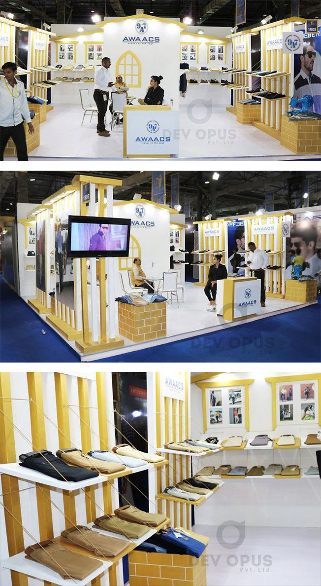 Exhibition Stall Design For Garments : Garment exhibition stand booth design at mumbai india