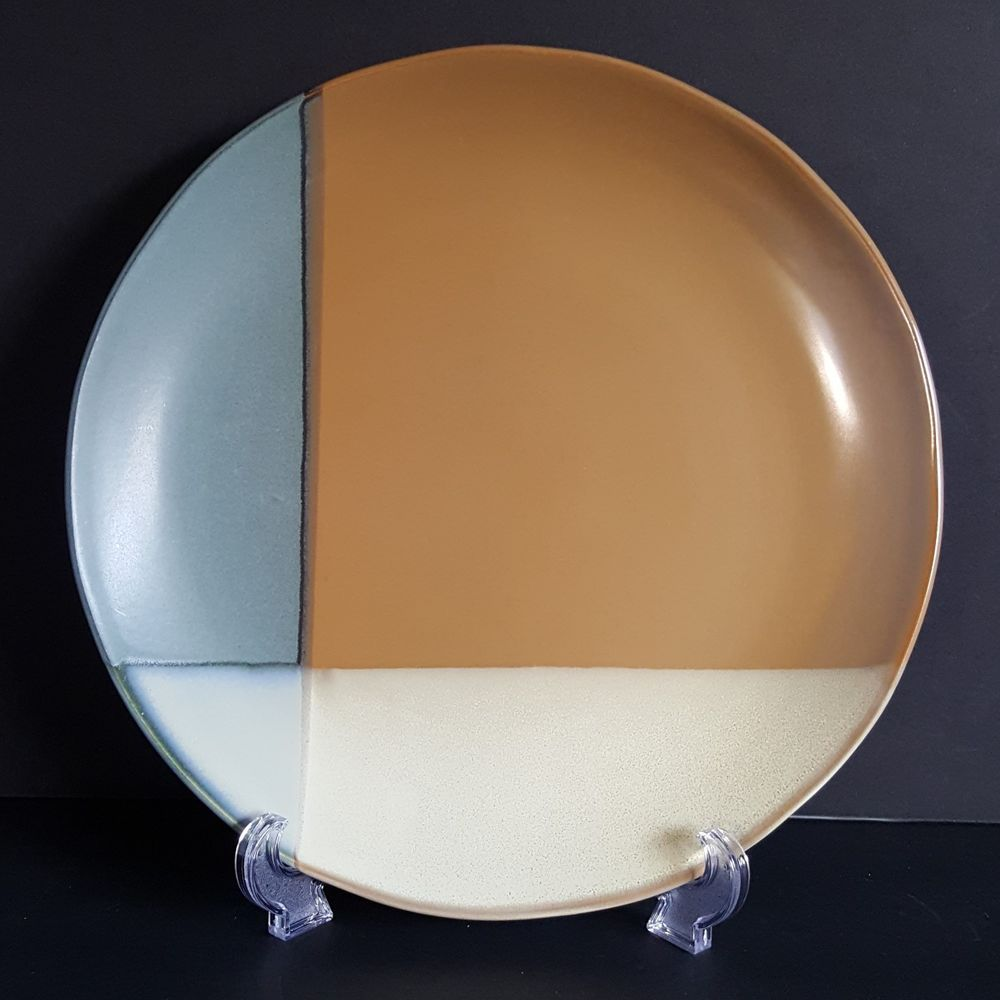 Sango Gold Dust Green Dinner Plate 5040 Color Block 10 3/4 ...