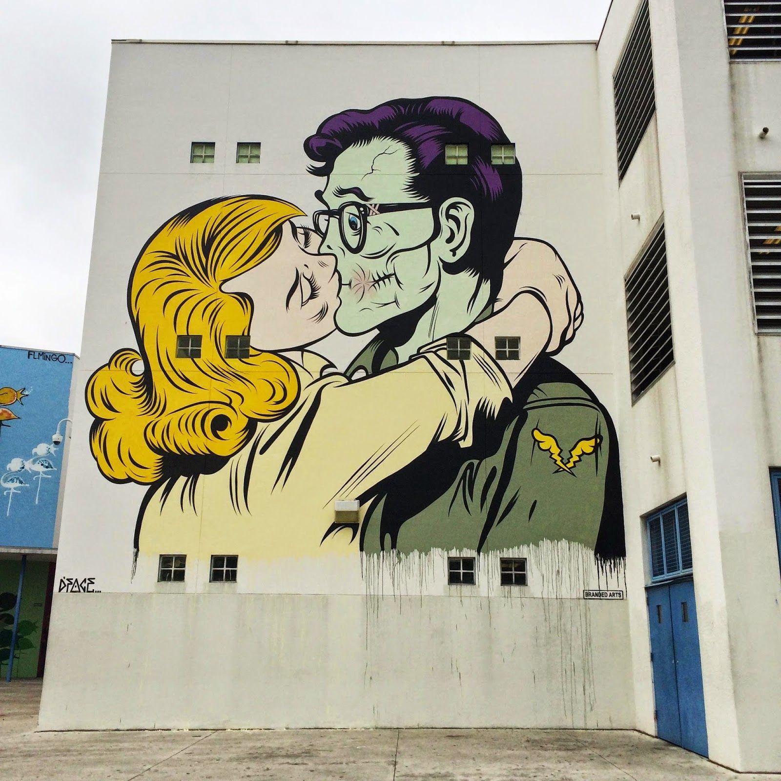Art Basel \'14: DFace paints \