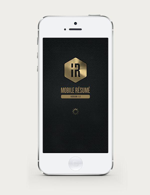 IR Mobile Resume on Behance Vi use Pinterest Behance - mobile resume