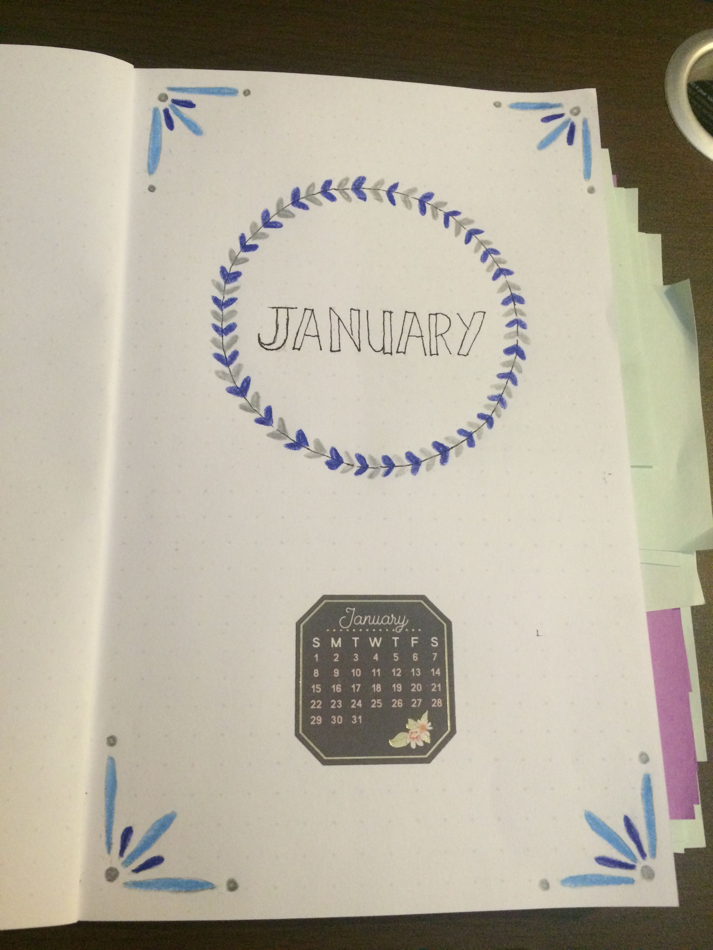 January Front Page in Bullet Journal | bullet journal ...