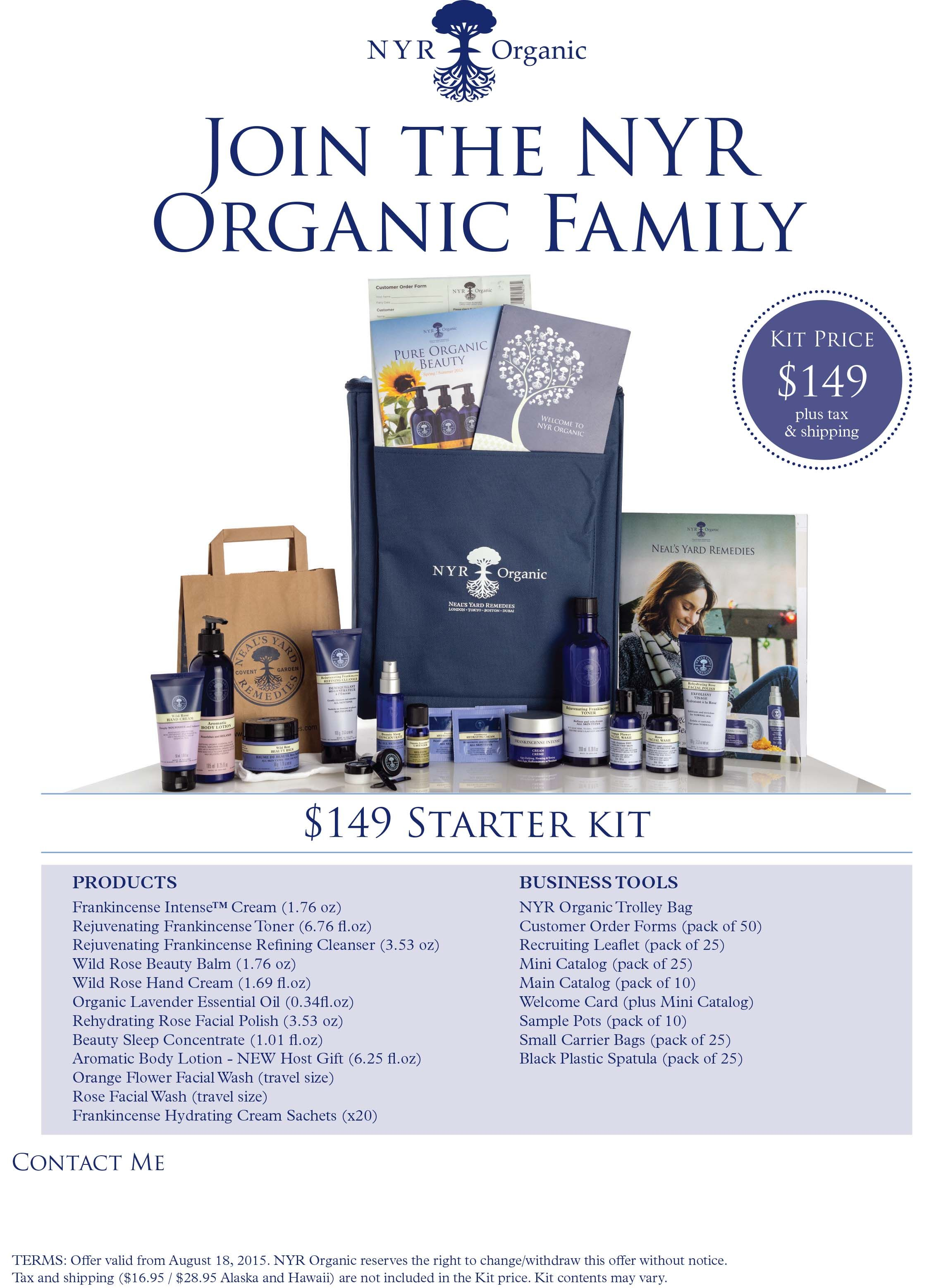 Make a difference while selling great organic skincare products! Visit my website for more info:  https://us.nyrorganic.com/shop/jenniferhoagland/area/become-a-consultant/