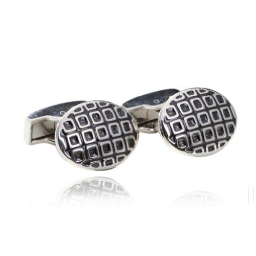 Digabi Men's Jewelry Special Design 18K Platinum Plated and Oil Drip New Arrivals Cufflinks Cuff for Men Color Sliver