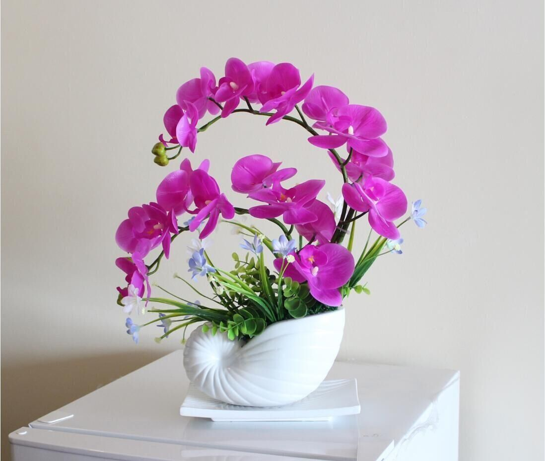 Nearly natural phalaenopsis silk orchid flower arrangement nearly natural phalaenopsis silk orchid flower arrangement artificial flower plants home wedding decor butterfly orchid hot pink details can be found mightylinksfo