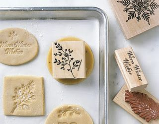 Use rubber stamps to decorate your cookies!!