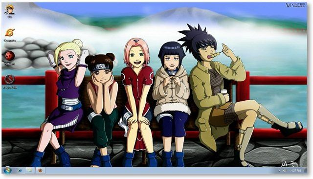 Windows 7 Naruto Theme Wallpapers For Windows Anime Themes Wallpaper Naruto Wallpaper Anime Kartun