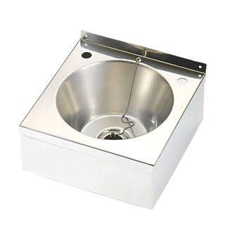 Franke Model A Wall Hung Wash Basin 2 Tap Hole Stainless Steel Bowl 290 X 290mm Commercial Basins Screwfix Com With Images Hanging Washing Wash Basin Steel Cupboard