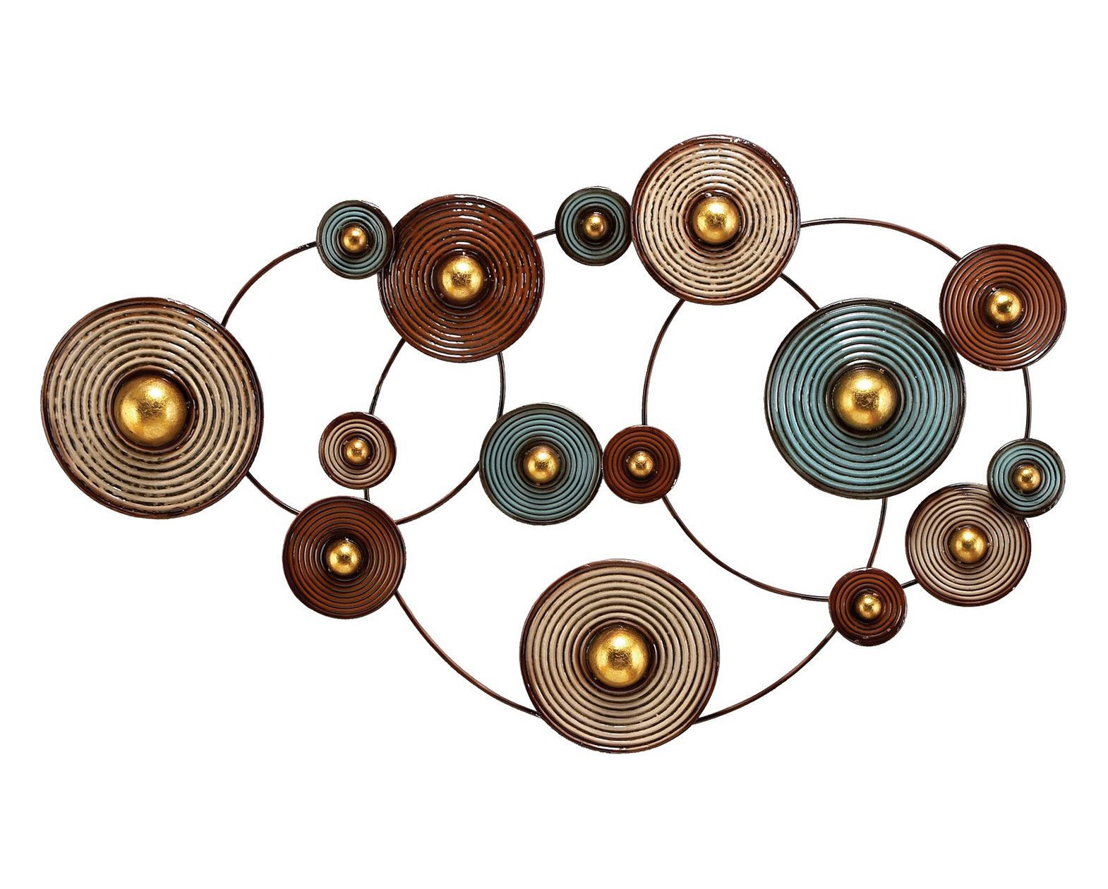 Wonder wheels abstract metal wall hanging products pinterest