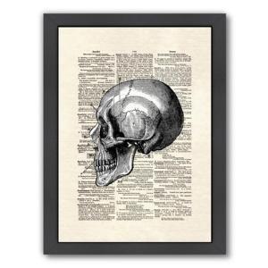 Americanflat Skull Framed Graphic Art $66.99 by AllModern