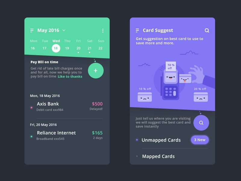 Calendar Design Inspiration App Design Calendar Design Inspiration Finance App