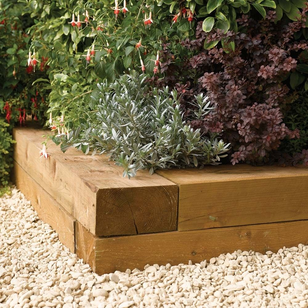 Image result for garden borders wood (With images) Wood