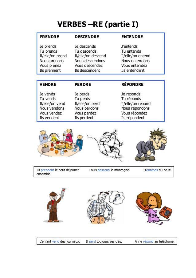 Verbes Dre Verbe Conjugaison Cm2 Verbe Prendre